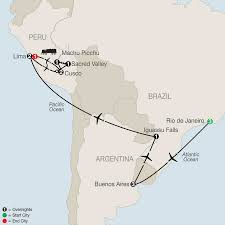 Map Of Peru South America by Visit South America Globus Travel