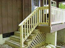 how to make a banister for stairs the garage steps leading into the house need a small handrail