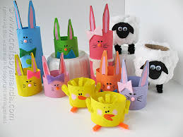 11 cardboard tube crafts for easter crafts by amanda