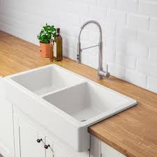 ikea kitchen sink cabinet installation havsen apron front bowl sink white 37x19