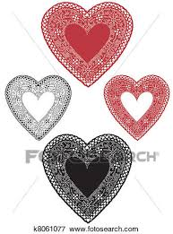 heart doilies clip of vintage lace heart doilies k8061077 search clipart