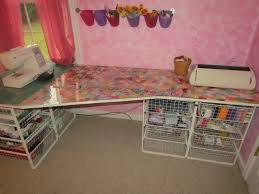 craft table using ikea antonius wire bins my blog
