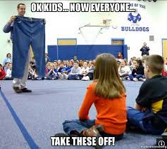 Jared Meme - ok kids now everyone take these off make a meme