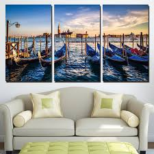 direct selling home decor aliexpress com buy sale direct selling 3 panels canvas art venice