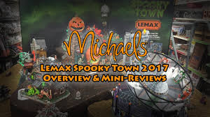 lemax spooky town 2017 lemax spooky town overview mini reviews