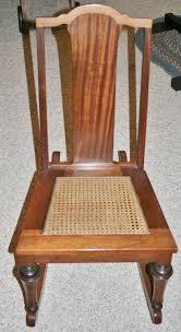 Nursing Rocking Chair Vintage Armless Sewing Nursing Rocker Wood With Cane Seat