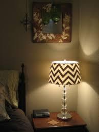 Lamp Shades Diy Diy Chevron Stripe Lampshade Nichefix