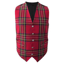 tartanista scottish irish tartan waistcoats vests 5 plaids