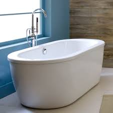 home depot stand alone tub reversible drain bathtub in white