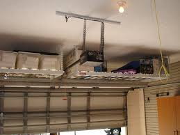 Diy Garage Wall Shelves by Custom Overhead Garage Ceiling Storage Rack Shelves For Small