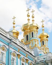 russia photography catherines palace print turquoise gold