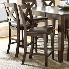 steve silver crosspointe 9 piece counter height table set in dark availability in stock pieces included in this set