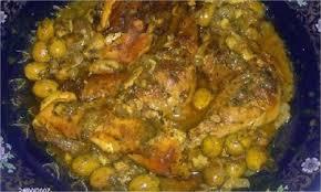 cuisine marocaine poulet aux olives poulet mchermel mariné aux olives