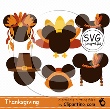 mickey thanksgiving svg ickey turkey day svg cut