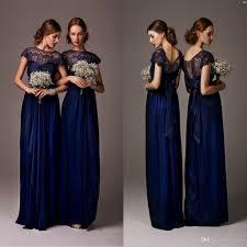 blue wedding dress designer navy blue bridesmaid dresses sleeves lace dresses plus