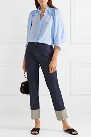 baby blue blouse buy baby blue casual blouse at felomhé for only rs 1 499 00
