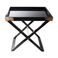 arca horn and black lacquer butler u0027s tray
