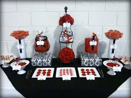 black and white damask graduation creationz red and black candy