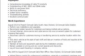 Cable Installer Resume Sample by Security Alarm Installer Resume Resume Samples And Installer