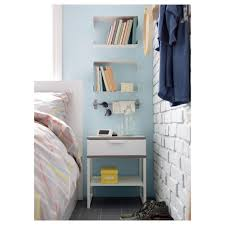 Bed Side Tables by Trysil Bedside Table White Light Grey 45x40 Cm Ikea