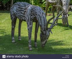 astonishing delightful rustic deer made from wood a great