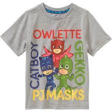 pj masks toddler boys u0027 short sleeve owlette catboy gekkot shirt