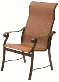Patio Furniture Sling Back Chairs by Suncoast Rendezvous Sling Supreme Dining Chair
