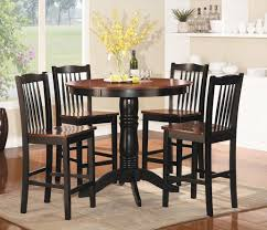 Space Saver Dining Set Table Four Chairs Furniture Wooden Counter Height Dining Table And Four
