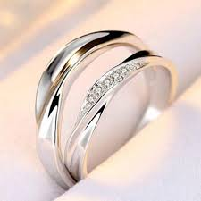 simple wedding ring new listing opening rings ripple simple wedding ring