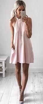 light pink halter dress fashion мода и стиль мода pinterest clothes dream closets