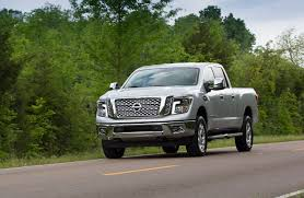nissan titan xd lifted nissan titan xd platinum reserve v 8 decked in luxury truck