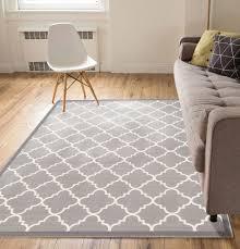accent rug dallas moroccan trellis grey and white casual modern trellis mat