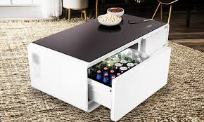 red bull table top fridge refrigerator coffee table cool material