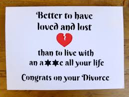 congrats on your divorce card divorce card congrats on your divorce single again card