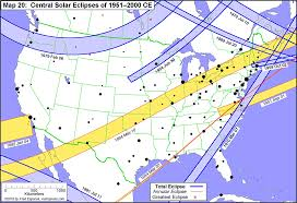 Map Of The Southern States Of America by Total Solar Eclipses In The Usa Earth Earthsky