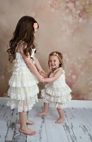 Old Fashioned Toddler Dresses Flower Dress Rustic Flower Dress Champagne Burlap