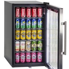 beer refrigerator glass door triple glazed alfresco bar fridge with lock and blue led lights