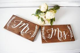 mr mrs sign for wedding table mr and mrs chair signs wedding chair sign mr and mrs sign wedding