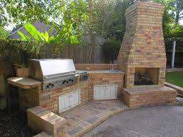 modern outdoor kitchen ideas wooden backsplash china decorations