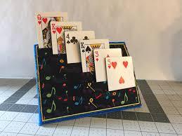 handmade 6 row playing card holder handicap muscular dystrophy