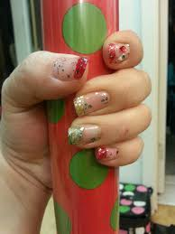 christmas nail done by me melz pintrest inspired pinterest
