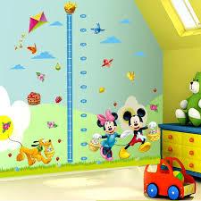 chambre enfant mickey mickey mouse minnie vinyle murale hauteur stickers muraux pour