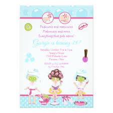 girls spa party invitations u0026 announcements zazzle