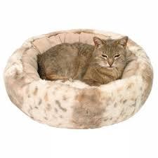 panier rond en osier panier en osier avec lit pour chat
