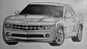 cars drawings 2011 chevy camaro drawing youtube