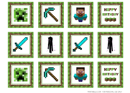 minecraft edible cake topper the best minecraft birthday party ideas besides just sitting