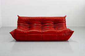 ligne roset canape vintage leather togo sofa by michel ducaroy for ligne roset for