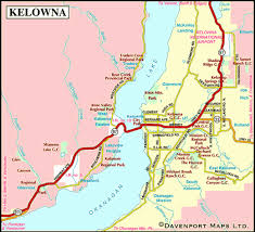 map of kelowna columbia travel and adventure vacations