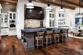 rustic kitchen design l shaped brown finish mahogany cabinets