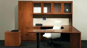 U Shaped Home Office Desk Home Office U Shaped Desk Wall Units Custom Built Office Cabinets